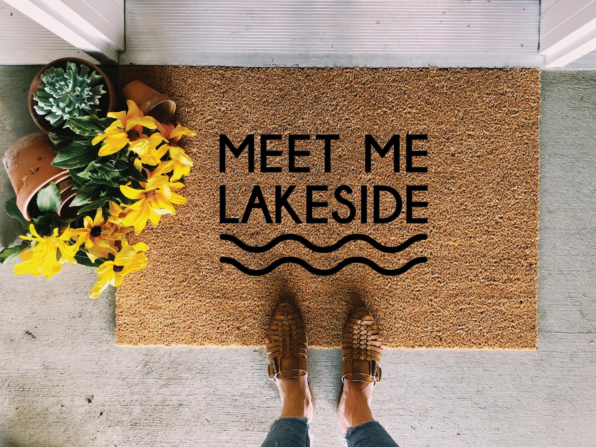 Meet Me Lakeside Doormat
