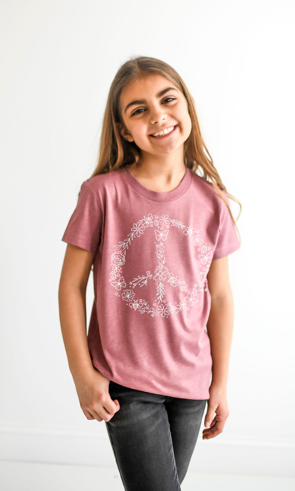 Pollinator Peace Sign Tee - Kids