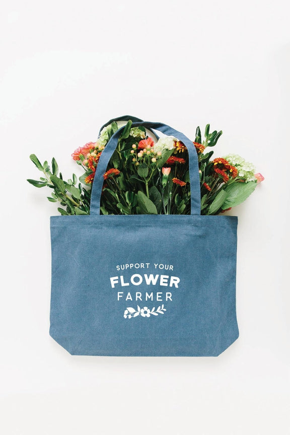 Flower Farmer Tote Bag