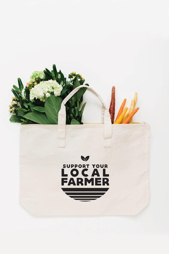 Local Farmer Tote Bag