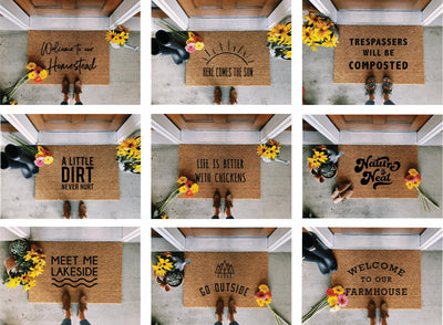 Welcome to our Homestead Doormat