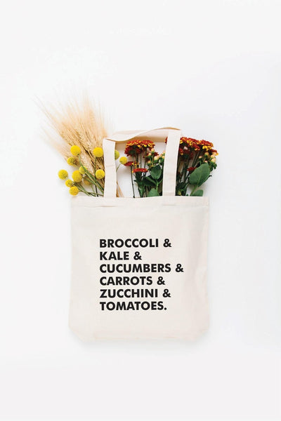 Veggie List Tote Bag