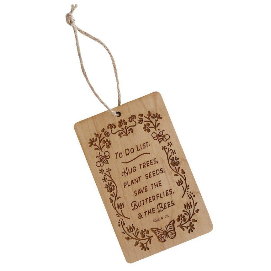 To Do List - Wooden Ornament