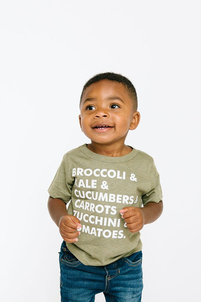 Veggie List Tee - Kids