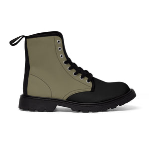Olive Women's Canvas Martin Boots