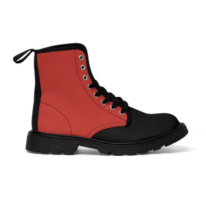 Poppy Men's Canvas Martin Boots