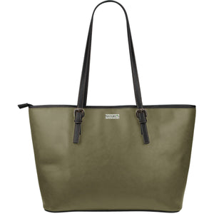 Large Leather Tote ~ Olive