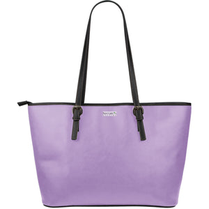 Large Leather Tote ~ Orchid