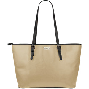Large Leather Tote ~ Sandstone