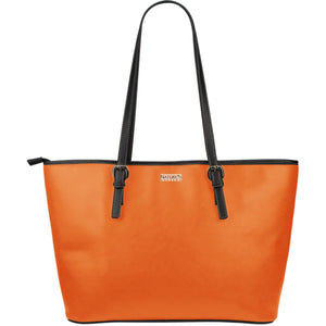 Large Leather Tote ~ Persimmon