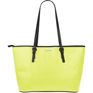 Large Leather Tote ~ Limelight
