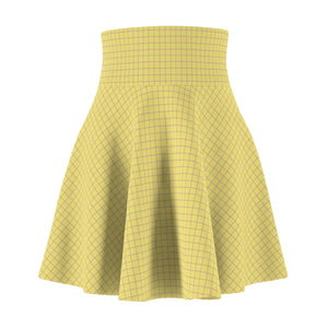 Women's Brushed Suede Swing Skirt ~ Limelight Check