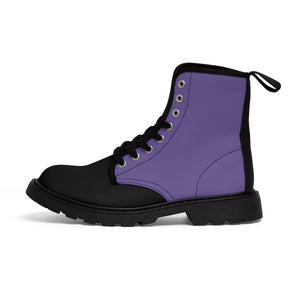Ultraviolet Women's Canvas Martin Boots