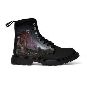 """The Stranded Traveler"" Men's Canvas Martin Boots"