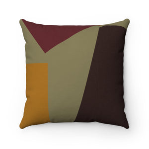 Khaki Pattern Premium Spun Polyester Square Pillow ~ Living In Nature Collection
