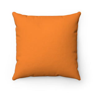 Dark Orange Premium Spun Polyester Square Pillow ~ Living In Nature Collection