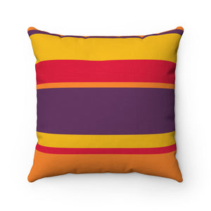 Jewel Tone Stripe Premium Spun Polyester Square Pillow ~ Living In Nature Collection