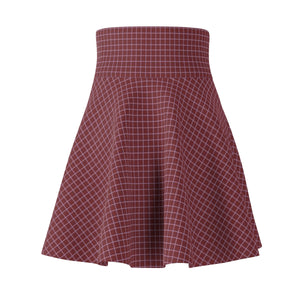 Women's Brushed Suede Swing Skirt ~ Saffron Check