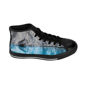 """Ole Blue Eyes"" Men's High Tops"