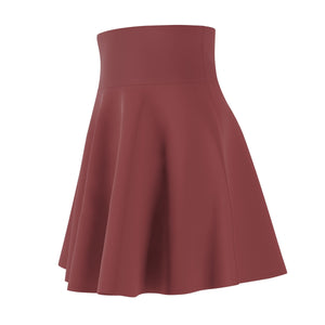 Women's Brushed Suede Swing Skirt ~ Saffron