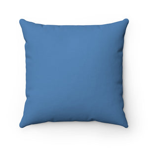 Light Blue Premium Spun Polyester Square Pillow ~ Living In Nature Collection