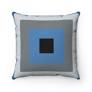 Blue Square Premium Spun Polyester Square Pillow ~ Living In Nature Collection