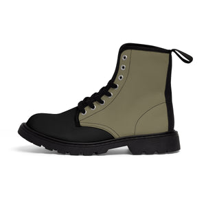 Olive Men's Canvas Martin Boots