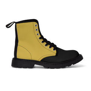 Mustard Women's Canvas Martin Boots