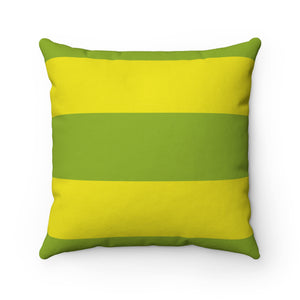 Citrus Stripe Premium Spun Polyester Square Pillow ~ Living In Nature Collection