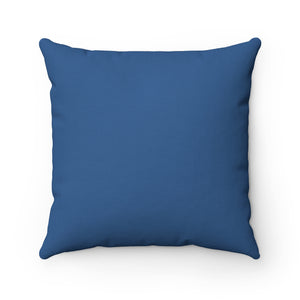 Dark Blue Premium Spun Polyester Square Pillow ~ Living In Nature Collection
