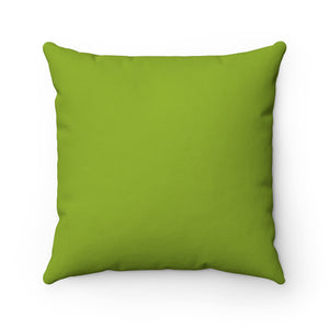 Light Green Premium Spun Polyester Square Pillow ~ Living In Nature Collection