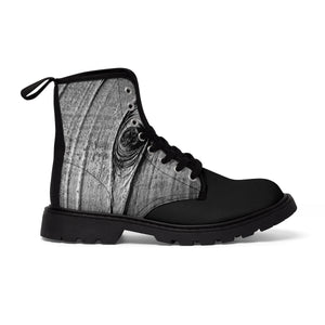"""The Unhappy Camper"" Men's Canvas Martin Boots"