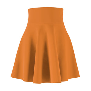 Women's Brushed Suede Swing Skirt ~ Persimmon