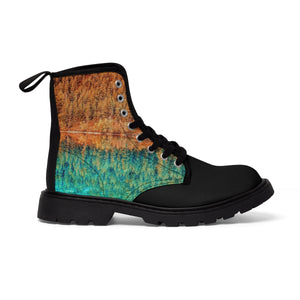 """The Reflective Chap"" Men's Canvas Martin Boots"