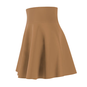 Women's Brushed Suede Swing Skirt ~ Adobe