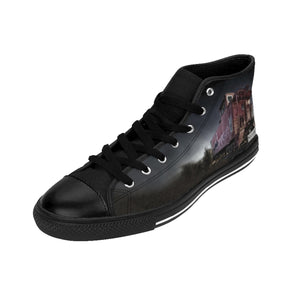 """The Stranded Traveler"" Men's High Tops"