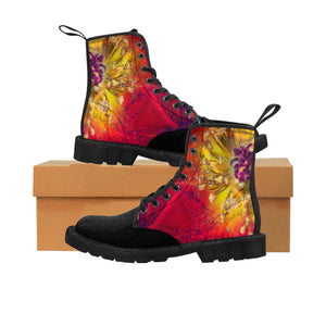 """Joy"" Women's Canvas Martin Boots"