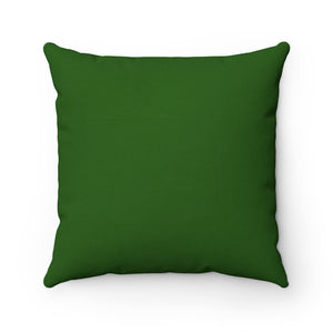 Dark Green Premium Spun Polyester Square Pillow ~ Living In Nature Collection