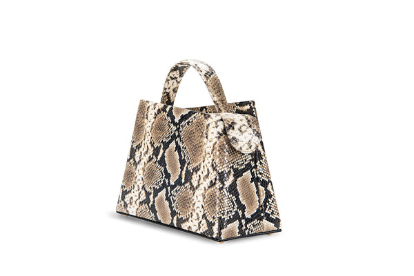 Maurice Snake Print Leather