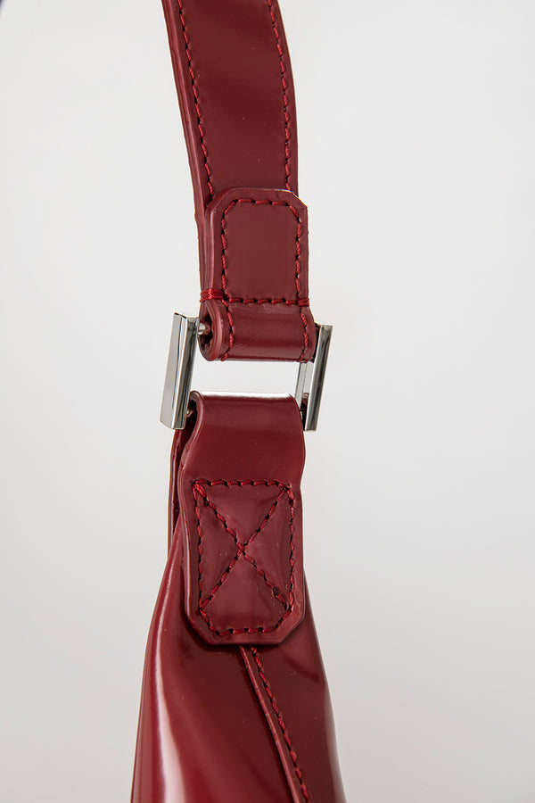 Amber Red Semi Patent Leather