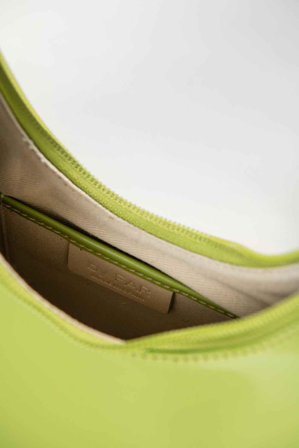 Amber Lime Green Semi Patent Leather