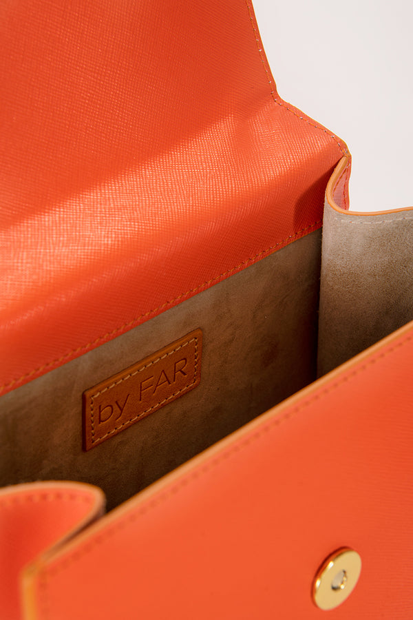 Monet Orange Leather