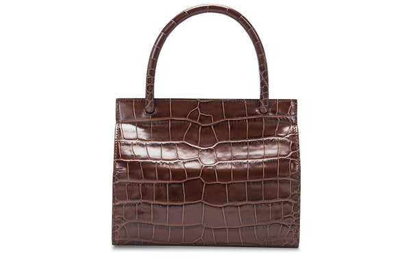 Val Nutella Croco Embossed Leather