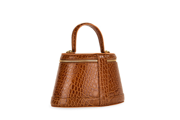 Annie Tan Croco Embossed Leather