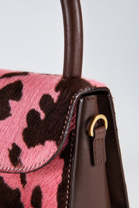 Mini Pink Cow-Print Pony Hair Leather