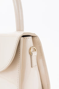 Mini Cream Patent Leather
