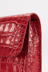 Crossover Red Croco Embossed Leather