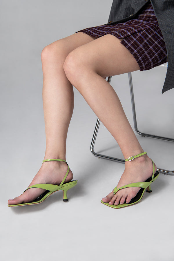 Mindy Melon Semi Patent Leather