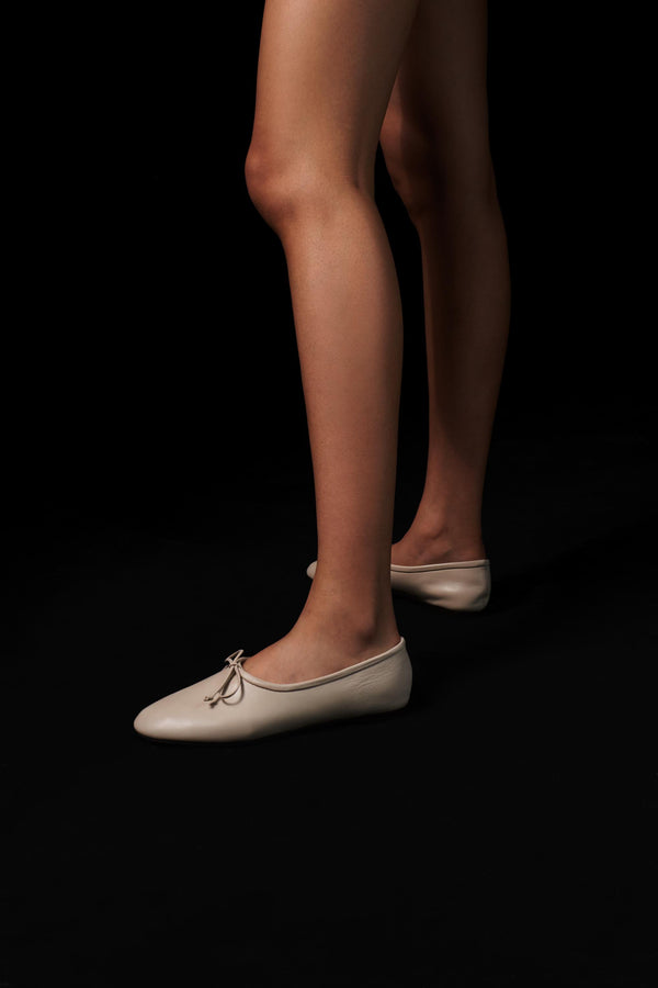 Agnes Off White Leather