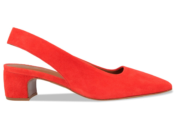 Danielle Red Suede